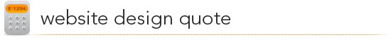 website design quote